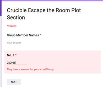Crucible Review Game Escape the Room