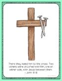 Crucifixion Poster, Class Decor, Holiday Sign, Bulletin Bo