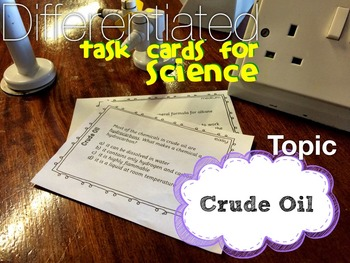 Crude Oil Task Cards