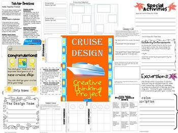Cruise Design Creative Thinking Project {Great for Gifted} End of Year