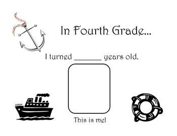 Cruise Theme- Memory Book- Fourth Grade