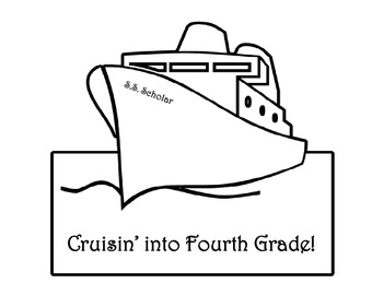 Cruise Theme- Memory Book- Third Grade