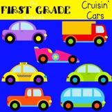 Cruisin' Cars {Digital Clip Art} Trucks, Vans, Transportation