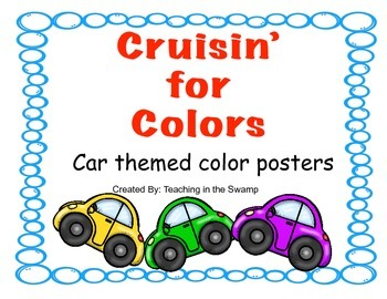 Cruisin' For Colors: Car Themed Color Posters