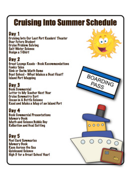 End of the Year Activities - Cruising Into Summer Unit