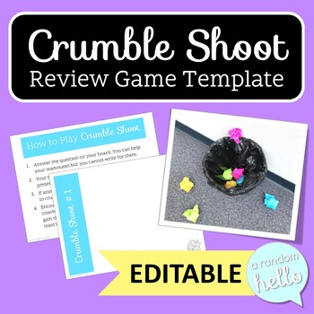 Crumble Shoot Review Game Template | EDITABLE