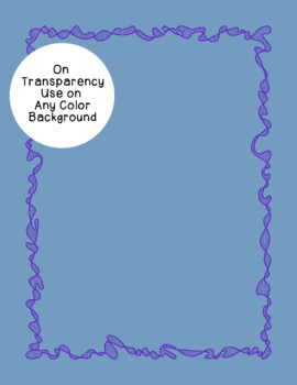 Crumple Borders Clip Art PNG JPG Blackline Included Commercial or Personal