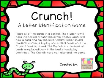 Crunch! A Letter Identification Game