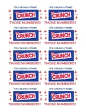 Crunch Bar Testing Treat Labels