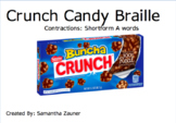 Crunch Candy Braille File Folder Game