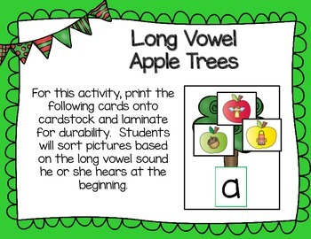 Crunch! Crunch! Apple Themed Letter and Word Work Activities