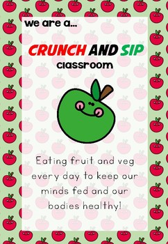 Crunch and Sip Poster