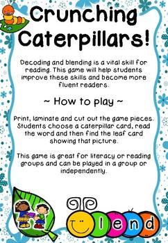 Crunching Caterpillars - CVCC/CCVC Word Game