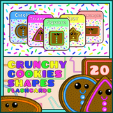 Montessori Crunchy Cookies Shapes Flashcards