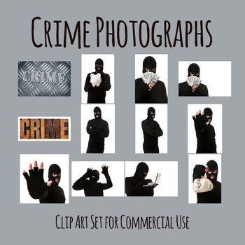 Crune and Criminal Photos - Balaclava Clad Thief Photo Clip Art Commercial Use