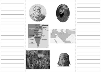 Crusades Interactive Notebook Activity (Middle Ages Project)