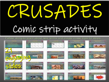 Crusades Comic Strip Activity: fun engaging informative 21