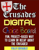 Crusades Digital Choice Board! Bring technology, choice, & fun to Middle Ages!