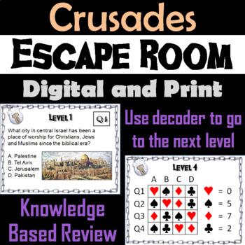 Crusades: Escape Room - Social Studies