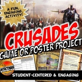 the Crusades Game or Poster Medieval Europe Project/Fun Activity with Rubric