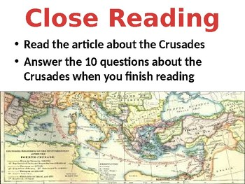 Crusades Lesson for Middle School