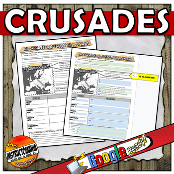 Crusades Notes Curriculum Outline & Graphic Organizer : A One Pager