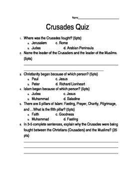 Crusades Quiz