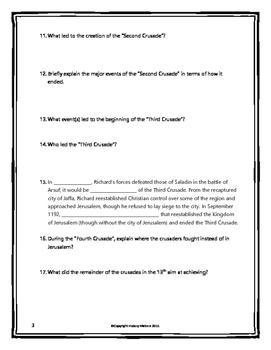 Crusades - Webquest with Key (History.com)