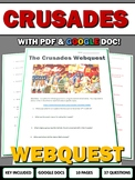 Crusades - Webquest with Key (Google Docs Included)