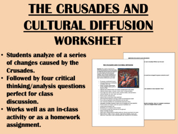 Crusades and Cultural Diffusion - Middle Ages - Global/Wor
