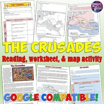 Crusades worksheet and map activity by students of history tpt crusades worksheet and map activity gumiabroncs Choice Image