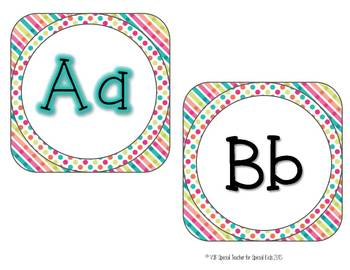 Crush My Candy *** Word Wall Words AND Letter Headers         Editable