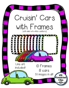 Cruisin' Doodle Cars with Frames - Clip Art