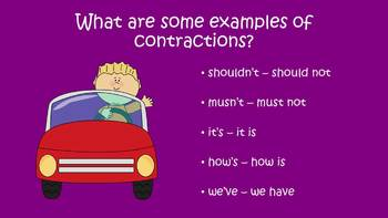 Cruisin' With Contractions - PowerPoint Game