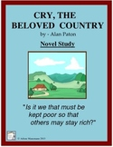 CRY, THE BELOVED COUNTRY Novel Study