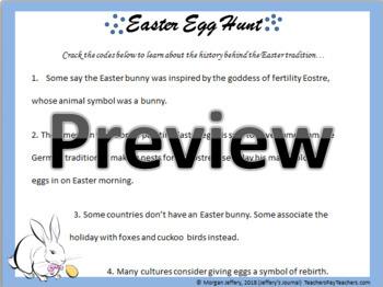 Cryptogram Puzzle: Easter Egg Hunt