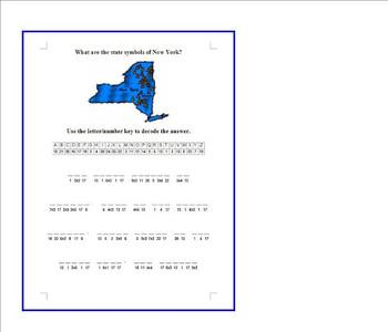 Cryptogram State Symbols Of New York