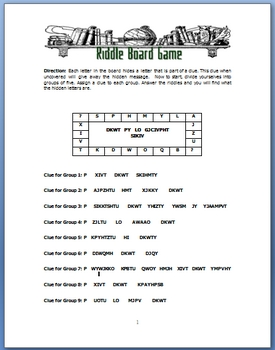 Cryptogram-Style Riddle To Teach Vocabulary