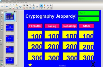 Cryptography (Matrices) Jeopardy - Style Game