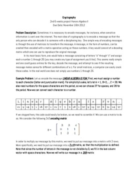 Cryptology Project