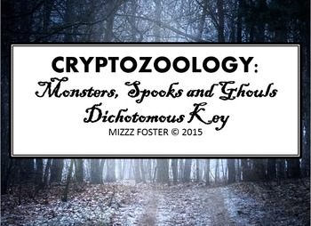 Cryptozoology Dichotomous Key: Monsters, Spooks, And Ghouls