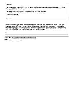 Cryptozoology webquest