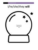 Crystal Ball Future Tense Visual Aide
