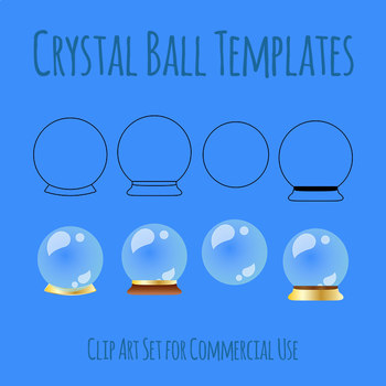 Crystal Balls (Transparent) Clip Art for Commercial Use