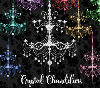 Crystal Diamond Chandeliers Glam Clipart, masquerade png clip art graphics