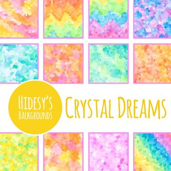 Crystal Dreams Mosaic Digital Paper / Backgrounds Clip Art Set