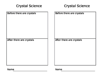 Crystal Science Experiment Handout
