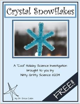 Crystal Snowflake - Free Science Investigation