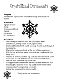 Crystallized Ornament Lab