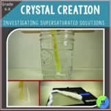 Borax Crystal Lab:  Investigate The Type Of Water On Crystal Growth Grade 6,7,8